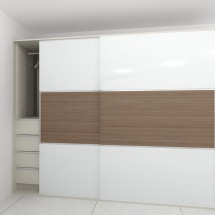 Enclosed Closet with Doors