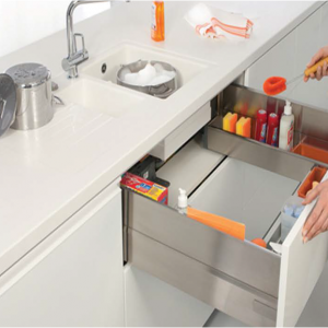 InteriorElements-Stainless Steel U-Shape Sink Drawer